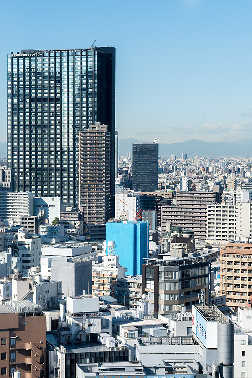 View over shinjuku in the day.