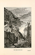 The Great Salt Lake. from the book ' Around the world in eighty days ' by Jules Verne (1828-1905) Translated by Geo. M. Towle, Published in Boston by James. R. Osgood & Co. 1873 First US Edition