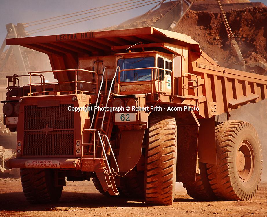 Haulpak in transit at Tom Price minesite