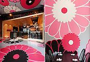 Restaurant Interiors Photography Montreal: Bistrot Japonais Kinoya, by interior designer Jean De Lessard, Montreal, Quebec, Canada
