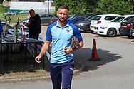 AFC Wimbledon defender Luke O'Neill (2) arriving during the EFL Sky Bet League 1 match between AFC Wimbledon and Accrington Stanley at the Cherry Red Records Stadium, Kingston, England on 17 August 2019.