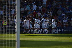October 14, 2017 - Madrid, Spain - The players of Real Madrid celebrate after scoring during the La Liga match between Getafe CF and Real Madrid CF at Coliseum Afonso Perez on October 14, 2017 in Madrid, Spain. (Credit Image: © Isa Saiz/NurPhoto via ZUMA Press)