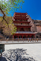 The Mogao Caves are a complex of 492 grottoes adorned with Buddhist statuary and frescoes, created between the 4th and 14th centuries. About 40 are accessible to the public. Dunhuang, along the ancient Silk Road, in Gansu Province, northwest China, which sits at the edge of the Gobi Desert.