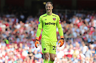 West Ham United goalkeeper Joe Hart (25) during the Premier League match between Arsenal and West Ham United at the Emirates Stadium, London, England on 22 April 2018. Picture by Bennett Dean.
