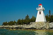 lighthouse on Georgian Bay at South Baymouth on Manitoulin Island (Lake Huron)<br /> South Baymouth on Manitoulin Island<br /> Ontario<br /> Canada