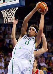 Anderson Varejao of Brasil during  the Preliminary Round - Group B basketball match between National teams of Brasil and Croatia at 2010 FIBA World Championships on September 2, 2010 at Abdi Ipekci Arena in Istanbul, Turkey. (Photo By Vid Ponikvar / Sportida.com)