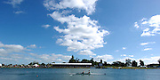 2005 FISA World Cup, Dorney Lake, Eton, ENGLAND, 28.05.05. GV's around the finish area and presentation boating dock and awards dock and backdrop..Photo  Peter Spurrier. .email images@intersport-images....[Mandatory Credit Peter Spurrier/ Intersport Images] Rowing Course, Dorney Lake