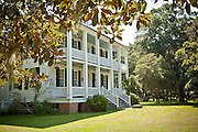 Hopsewee Plantation mansion in Georgetown, SC. The plantation is the birthplace of Thomas Lynch, Jr. signer of the Declaration of Independence.