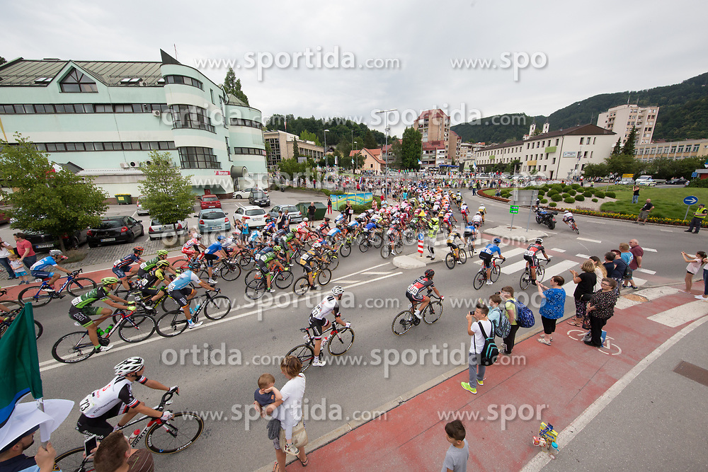 The cyclists at Zagorje during 3rd Stage of 25th Tour de Slovenie 2018 cycling race between Slovenske Konjice and Celje (175,7 km), on June 15, 2018 in  Slovenia. Photo by Vid Ponikvar / Sportida