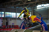 #156 (TEULLET Denis) FRA at the 2014 UCI BMX Supercross World Cup in Manchester.