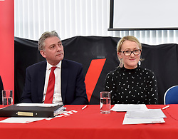 Scottish Labour launched it's new green industrial revolution plan in Motherwell, on the site of the former Ravenscraig steelworks. Scottish Labour leader Richard Leonard was joined by UK shadow Business, energy and industry Secretary of State Rebecca Long-Bailey.<br /> <br /> © Dave Johnston / EEm