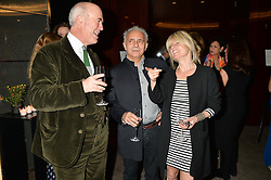 Left to right, CHARLES SAUMAREZ-SMITH, HANIF KUREISHI and RACHEL JOHNSON at a dinner hosted by Liberatum to honour Francis Ford Coppola held at the Bulgari Hotel & Residences, 171 Knightsbridge, London on 17th November 2014.