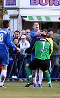 Photo: Mark Stephenson.<br /> Chasetown v Cardiff City. FA Cup Third Round. 05/01/2008.<br /> Chasetown celebrate there goal for 1-0