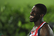 Great Britain's Dwain Chambers smiles after the men's 100m semifinal at the 2010 European Athletics Championships at the Olympic Stadium in Barcelona.