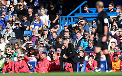 Manchester United manager Jose Mourinho watches the action