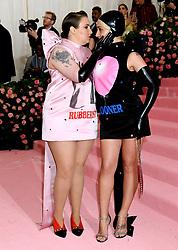 Lena Dunham (left) and Jemima Kirke attending the Metropolitan Museum of Art Costume Institute Benefit Gala 2019 in New York, USA.