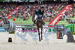Rodrigo Pessoa, (BRA), Status - World Champions, - Second Round Team Competition - Alltech FEI World Equestrian Games™ 2014 - Normandy, France.<br /> © Hippo Foto Team - Leanjo De Koster<br /> 25/06/14