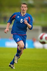 REYKJAVIK, ICELAND - Wednesday, May 28, 2008: Iceland's Atli Sveinn Thorarinsson during the international friendly match against Wales at the Laugardalsvollur Stadium. (Photo by David Rawcliffe/Propaganda)