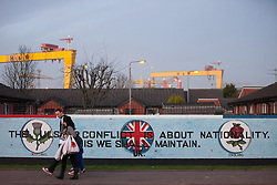 © Licensed to London News Pictures . 09/01/2013 . Belfast , UK . Mural on the Newtownards Road in East Belfast today (9th January 2013) . Photo credit : Joel Goodman/LNP