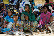 Nigerian families attending a tribal gathering cultural festival at Maiduguri in Nigeria, West Africa
