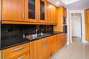 Kitchen unit in the interior of a condominium Photographed in Las Vegas, Nevada USA