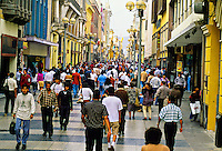 Jiron de la Union (pedestrian street) between Plaza Mayor and Plaza San Martin, Centro, Lima, Peru