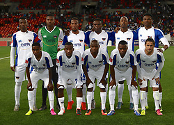 Chippa United Squad during the 2016 Premier Soccer League match between Chippa United and Free State Stars held at the Nelson Mandela Bay Stadium in Port Elizabeth, South Africa on the 23rd August 2016<br /><br />Photo by:   Richard Huggard / Real Time Images