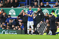 Morgan Schneiderlin of Everton comes on off the replacements bench to make his Everton debut. Premier league match, Everton v Manchester City at Goodison Park in Liverpool, Merseyside on Sunday 15th January 2017.<br /> pic by Chris Stading, Andrew Orchard sports photography.