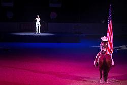 Opening Ceremony before Dressage Final II, Grand Prix Freestyle <br /> Kur<br /> Reem Acra FEI World Cup™ Dressage Final<br /> Las Vegas 2015<br />  © Hippo Foto - Dirk Caremans<br /> 18/04/15