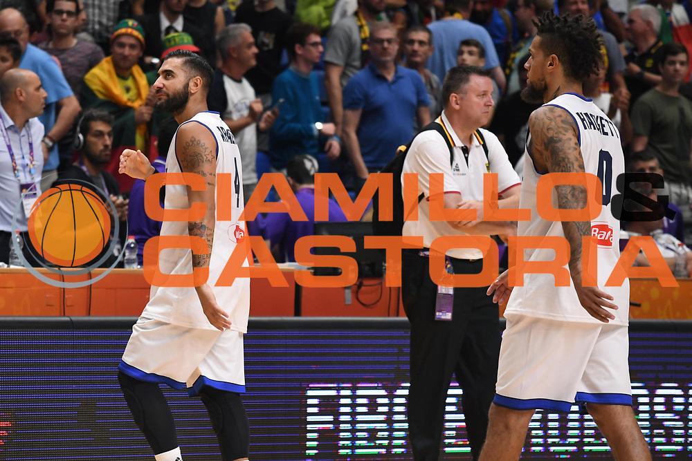 Pietro Aradori, Daniel Hackett<br /> Nazionale Italiana Maschile Senior<br /> Eurobasket 2017 - Group Phase<br /> Italia Germania Italy Germany<br /> FIP 2017<br /> Tel Aviv, 05/09/2017<br /> Foto M.Ceretti / Ciamillo - Castoria