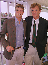 Left to right, MR JACK KIDD polo playing brother of model Jodie Kidd and his father MR JOHNNY KIDD, at a polo match in Berkshire on 13th June 1999.MTD 111