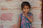 Young girl from the village of Chanoud, Rajasthan, India.