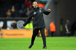 Wolverhampton Wanderers manager Nuno celebrates at the full time whistle  - Mandatory by-line: Nizaam Jones/JMP - 02/03/2019 - FOOTBALL - Molineux - Wolverhampton, England -  Wolverhampton Wanderers v Cardiff City - Premier League