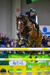 Janssens Sofie, BEL, Anybody<br /> Klasse Zwaar<br /> Nationaal Indoor Kampioenschap Pony's LRV <br /> Oud Heverlee 2019<br /> © Hippo Foto - Dirk Caremans<br /> 09/03/2019