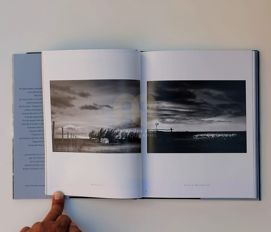 Patagonia Unknown (pag 20-21), book published in conjunction with the Photography Exhibition in 2019 - at Art Gallerie- Consulate General of Argentina- in New York, USA. Photographs by by Alejandro Sala