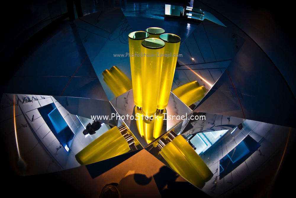 Abstract 3d shapes Yellow Cones