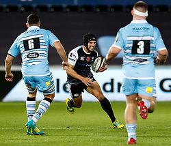 2nd November, Liberty Stadium , Swansea, Wales ; Guinness pro 14's Ospreys Rugby v Glasgow Warriors ;  Dan Evans of Ospreys<br /> <br /> Credit: Simon King/News Images<br /> <br /> Photographer Simon King/Replay Images<br /> <br /> Guinness PRO14 Round 8 - Ospreys v Glasgow Warriors - Friday 2nd November 2018 - Liberty Stadium - Swansea<br /> <br /> World Copyright © Replay Images . All rights reserved. info@replayimages.co.uk - http://replayimages.co.uk