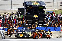 April 29, 2018 - Talladega, Alabama, United States of America - Martin Truex, Jr (78) brings his car down pit road for service during the GEICO 500 at Talladega Superspeedway in Talladega, Alabama. (Credit Image: © Chris Owens Asp Inc/ASP via ZUMA Wire)