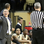 Central Florida head coach Donnie Jones shows his frustration during the first half of  a Conference USA NCAA basketball game between the Rice Owls and the Central Florida Knights at the UCF Arena on January 22, 2011 in Orlando, Florida. Rice won the game 57-50 and extended the Knights losing streak to 4 games.  (AP Photo/Alex Menendez)
