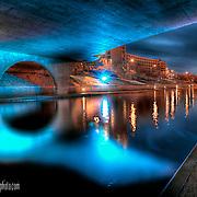 Under a bridge along Kansas City's Brush Creek