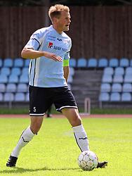 FODBOLD: Anfører Jeppe Christiansen (Helsingør) under kampen i Danmarksserien, pulje 1, mellem AB Tårnby og Elite 3000 Helsingør den 12. juni 2010 på Tårnby Stadion. Foto: Claus Birch