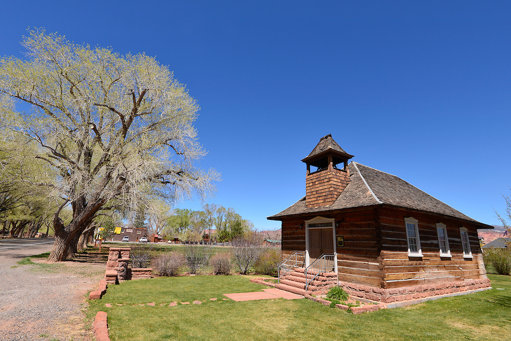 Old church and school, Torrey, Utah.