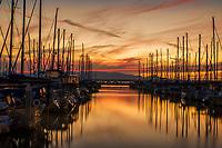 Shilshole Bay Marina @ Sunset, Seattle