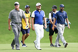 August 10, 2017 - Charlotte, North Carolina, United States - (L-R) D.A. Points, Chris Rice, Tyrrell Hatton, Joe Cruz and  Adam Hadwin walk the 18th fairway during the first round of the 99th PGA Championship at Quail Hollow Club. (Credit Image: © Debby Wong via ZUMA Wire)