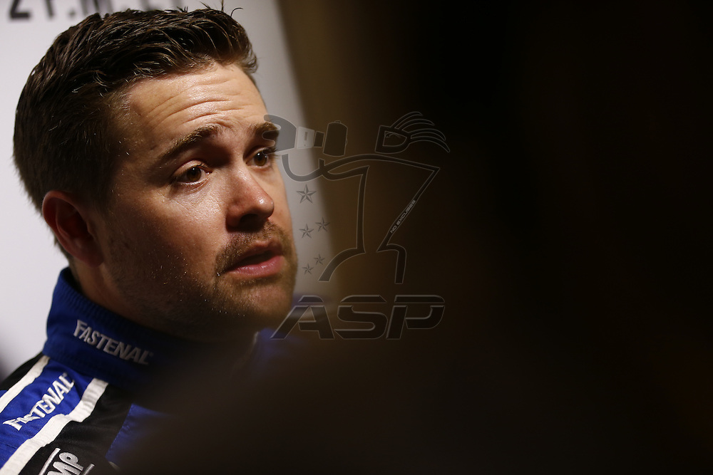 Daytona Beach, FL - Feb 22, 2017: Ricky Stenhouse Jr. (17) meet with the media during the annual Daytona 500 Media Day at the Daytona International Speedway in Daytona Beach, FL.