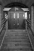 Putney, Greater London UK. General Views Putney Hard.  Front steps and entrace to London Rowing Club, LRC. Sunday  25th September 2016<br /> <br /> [Mandatory Credit; Peter SPURRIER/Intersport Images]
