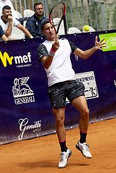 June 18, 2018 - L'Aquila, Italy - Renzo Olivo during match between Renzo Olivo (ARG) and Bernabe Zapata Miralles (ESP) during day 3 at the Internazionali di Tennis Citt dell'Aquila (ATP Challenger L'Aquila) in L'Aquila, Italy, on June 18, 2018. (Credit Image: © Manuel Romano/NurPhoto via ZUMA Press)