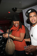 l to r: Raqiah Mays and Johnny Nunez at The Jamie Foxx's Album Release Party for Intuition, Sponsored by Vibe Magazine & Patron Tequila held at Home on December 17, 2008 in New York City..