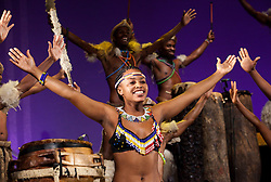 """© Licensed to London News Pictures. 01/02/2012. London, England. The South African Musical UMOJA opens at the Peacock Theatre, London. """"Umoja"""" means """"togetherness"""" in Zulu. Photo credit: Bettina Strenske/LNP"""