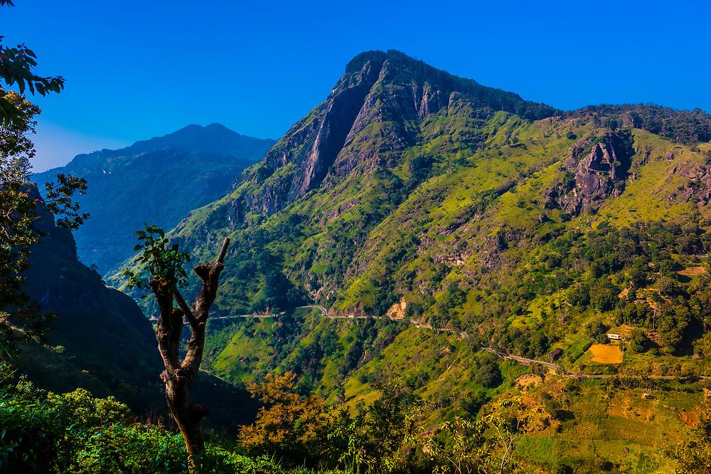 Ella Gap, Ambagollapathana, near Ella, Uva Province, Sri Lanka.